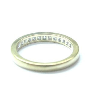 Tiffany & Co 18K Yellow Gold  Diamond Channel Set Band