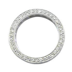 Platinum Princess & Round Diamond Eternity Band Ring