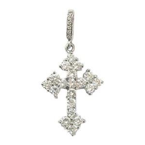 Loree Rodkin Platinum Diamond Gothic Cross Pendant 2.36CT