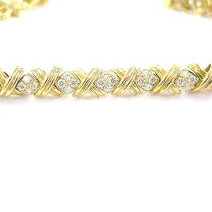 Tiffany & Co. 18K Yellow Gold Diamond Signature X Bracelet
