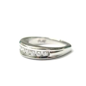 Scott Kay Platinum Channel Set Diamond Band Ring