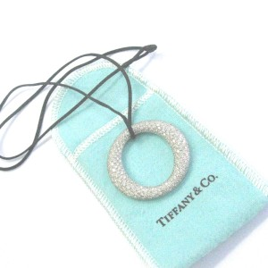 Tiffany & Co Platinum Elsa Peretti Sevillana Diamond Pave Large Pendant Necklace