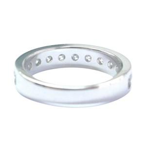 14K White Gold & Diamond Channel Setting Band Ring