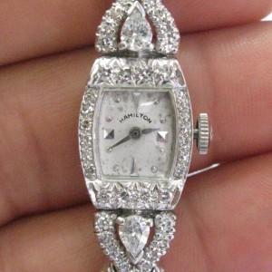 Hamilton Platinum  Diamond Watch