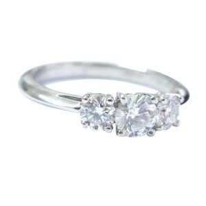 Tiffany & Co. Platinum 3-Stone Diamond Engagement Ring