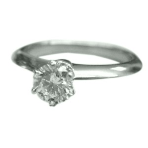 Tiffany & Co. Platinum Round Diamond Solitaire Ring