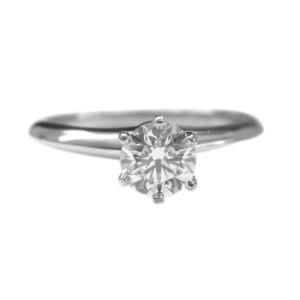 Tiffany & Co. Platinum Round Diamond Solitaire Ring