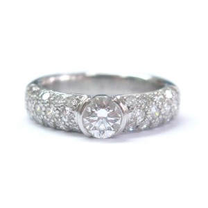 Tiffany & Co. Platinum Etoile Diamond Engagement Ring