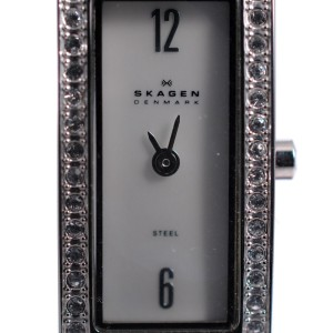 Skagen 266SSLLV1 Swarovski Crystal Pale Pink Leather Womens Watch