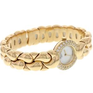 Chopard Casmir 18K Yellow Gold & Diamond Bangle Watch