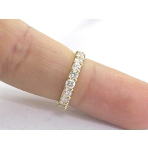 Yellow Gold Diamond 9-Stone Shared Prong Band Ring