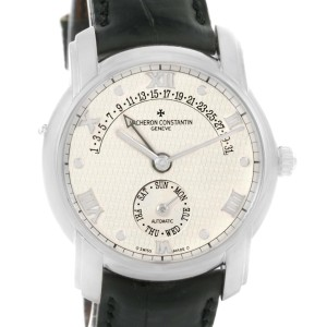 Vacheron Constantin Patrimony 47245 Retrograde White Gold Watch