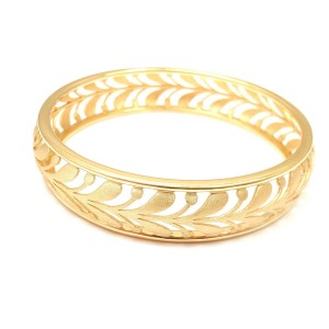 Tiffany & Co. Paloma Picasso 18k Yellow Gold Villa Palm Bangle Bracelet