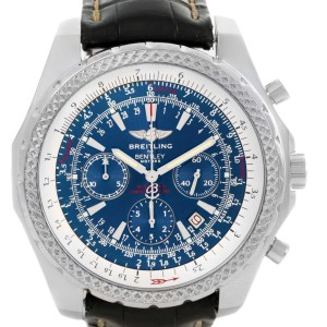 Breitling Bentley Motors A25362 Chronograph Blue Dial Mens 49mm Watch
