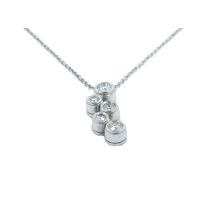 Tiffany & Co. Platinum 0.35ct. Diamond Bubbles Necklace