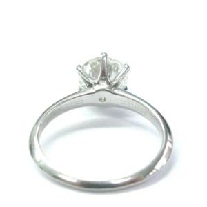 Tiffany & Co Platinum 2.32Ct I-VS2 Round Cut Diamond Solitaire Ring