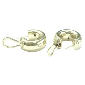 Tiffany & Co 18K Yellow Gold & Platinum Etoile 0.35Ct Diamond Hoop Earrings