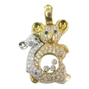 Chopard 18K Mother Daughter Bear Diamond Pendant