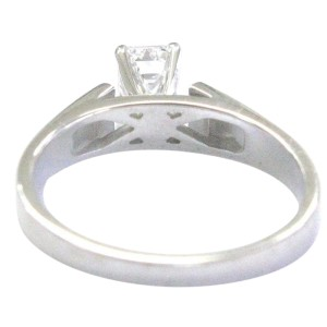 14K White Gold & Diamond Solitaire Engagement Ring