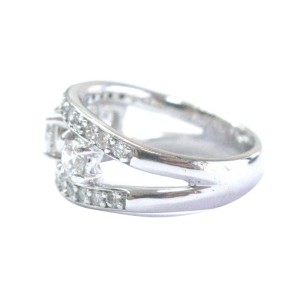 Platinum & 3-Stone Diamond Band Ring