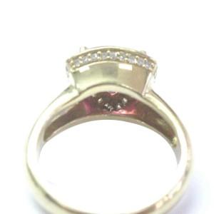 14K Yellow Gold Diamond & Pink Tourmaline Ring