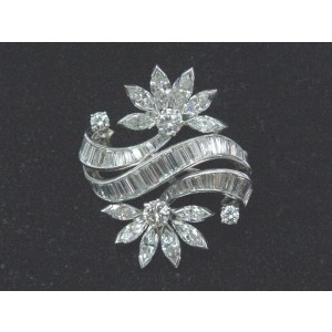 Platinum Multi Shape Diamond Pin/Brooch