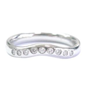 Tiffany & Co. Platinum Elsa Peretti Curved Diamond Band Ring