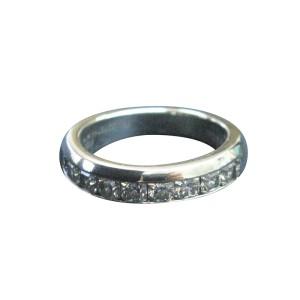 Tiffany & Co Platinum Lucida Diamond Half Circle Band Ring