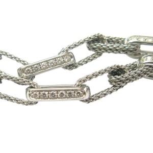 Tiffany & Co. 18K White Gold Rope Diamond Necklace