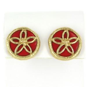 Vintage Tiffany & Co. Schlumberger Enamel Flower Clip Earrings