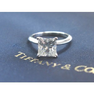Tiffany & Co. Platinum Diamond Solitaire Engagement Ring