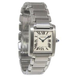 Cartier Tank Francaise 2384 Stainless Steel Quartz Small Womens Watch