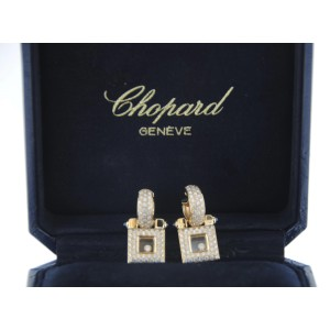 Chopard 18K Yellow Gold & Floating Diamond Earrings