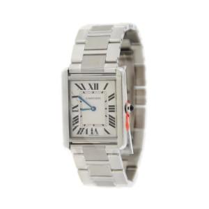Cartier Tank Solo W5200014 Stainless Steel Quartz 27mm Unisex Watch