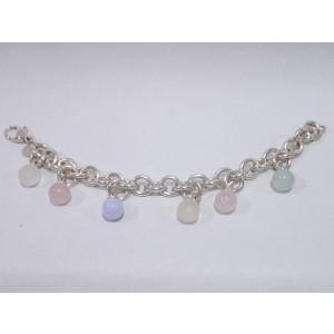 Tiffany & Co. 925 Sterling Silver Quartz Charm Bracelet