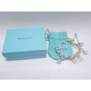 Tiffany & Co. 925 Sterling Silver Quartz Charm Bracelet