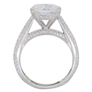 18K White Gold GIA Certified 4.11CTW Diamond Ring