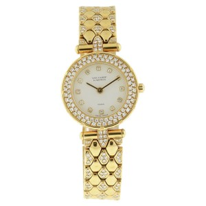Van Cleef & Arpels 18K Yellow Gold & Diamond 24mm Watch