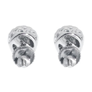 14K White Gold Round 1/4ct Diamond 5mm Prong Cluster Stud Earrings