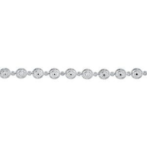 White Gold Finish Sterling Silver Black 0.50 ct Diamond Round Link Tennis Bracelet