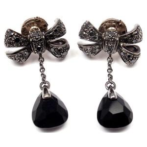 Pomellato 18K Yellow Gold Black Diamond Forever Earrings