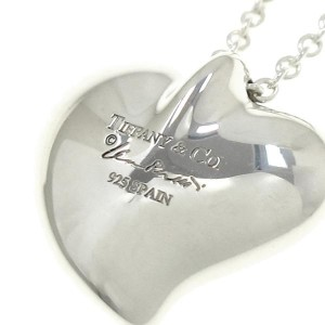 Tiffany & Co. 925 Sterling Silver Curved Pendant Necklace