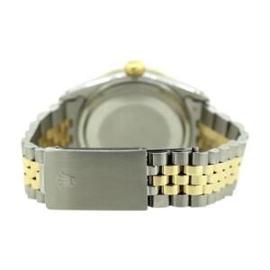 Rolex Date 18K Yellow Gold & Stainless Steel Diamond 34mm Watch
