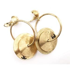Chanel Gold-Tone Tingsha Handbell Vintage Clip-on Earrings