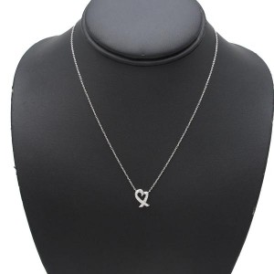 Tiffany & Co. 950 Platinum Paloma Picasso Pendant Necklace
