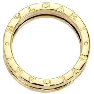 Bulgari B-Zero 1 18K Yellow Gold 3 Band Ring Size 7.5