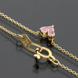 Star Jewelry 18K Pink Gold With 0.13ct Pink Sapphire Mysterious Heart Necklace