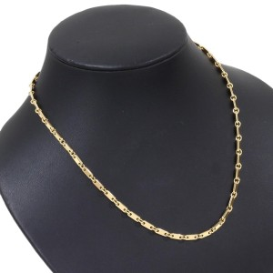 Cartier 18K Yellow Gold Figaro Link 17.5'' Necklace