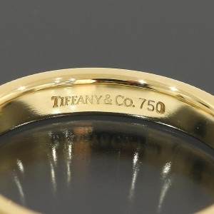 Tiffany & Co. 18K Yellow Gold Milgrain Wedding Band Ring Size 5.5