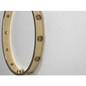 Cartier Love Yellow Gold & Diamonds Bracelet Size 16